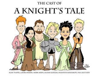'A Knight's Tale' cast by JayFosgitt