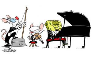 Pinky Brain and Bob 2 by JayFosgitt
