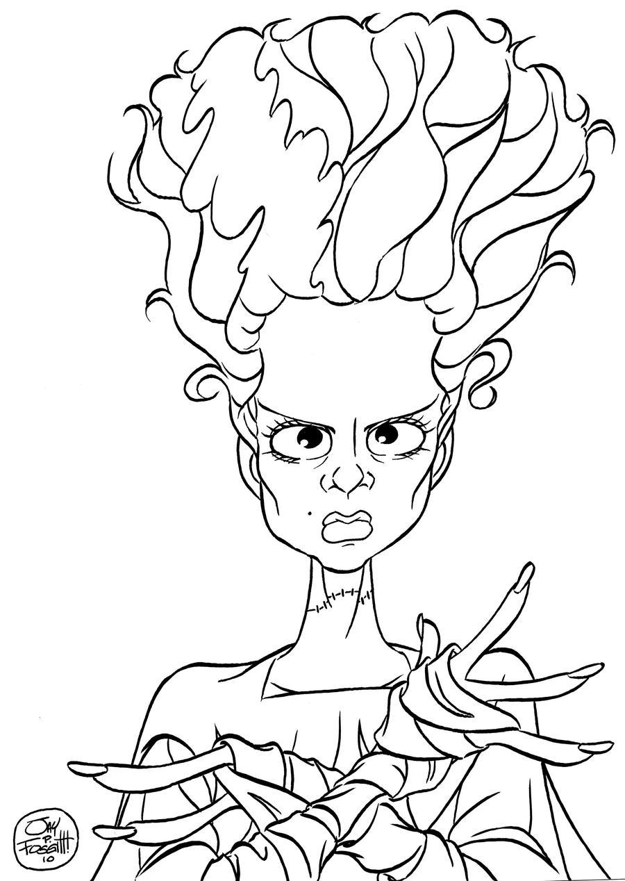 Bride of frankenstein by jayfosgitt on deviantart for Frankenstein coloring pages