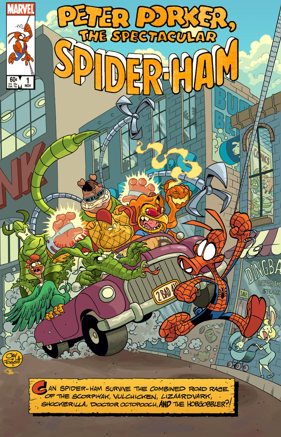 SPIDER-HAM COVER by JayFosgitt