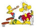 Bart whacks Bob