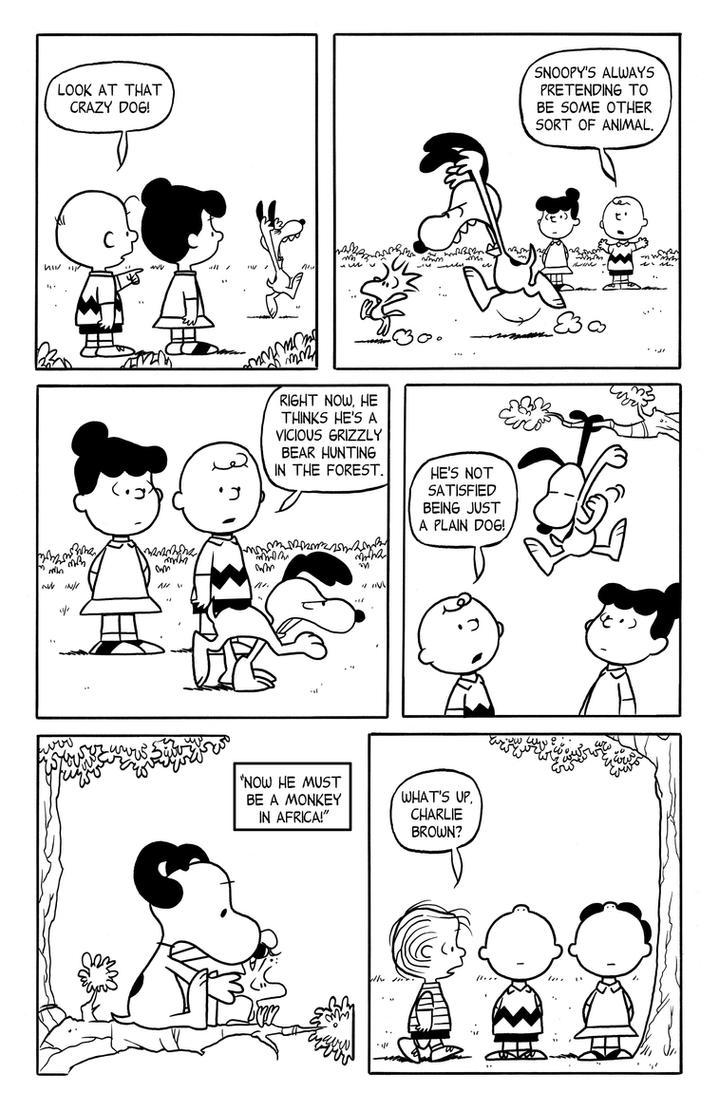 Peanuts Comic Try out by JayFosgitt