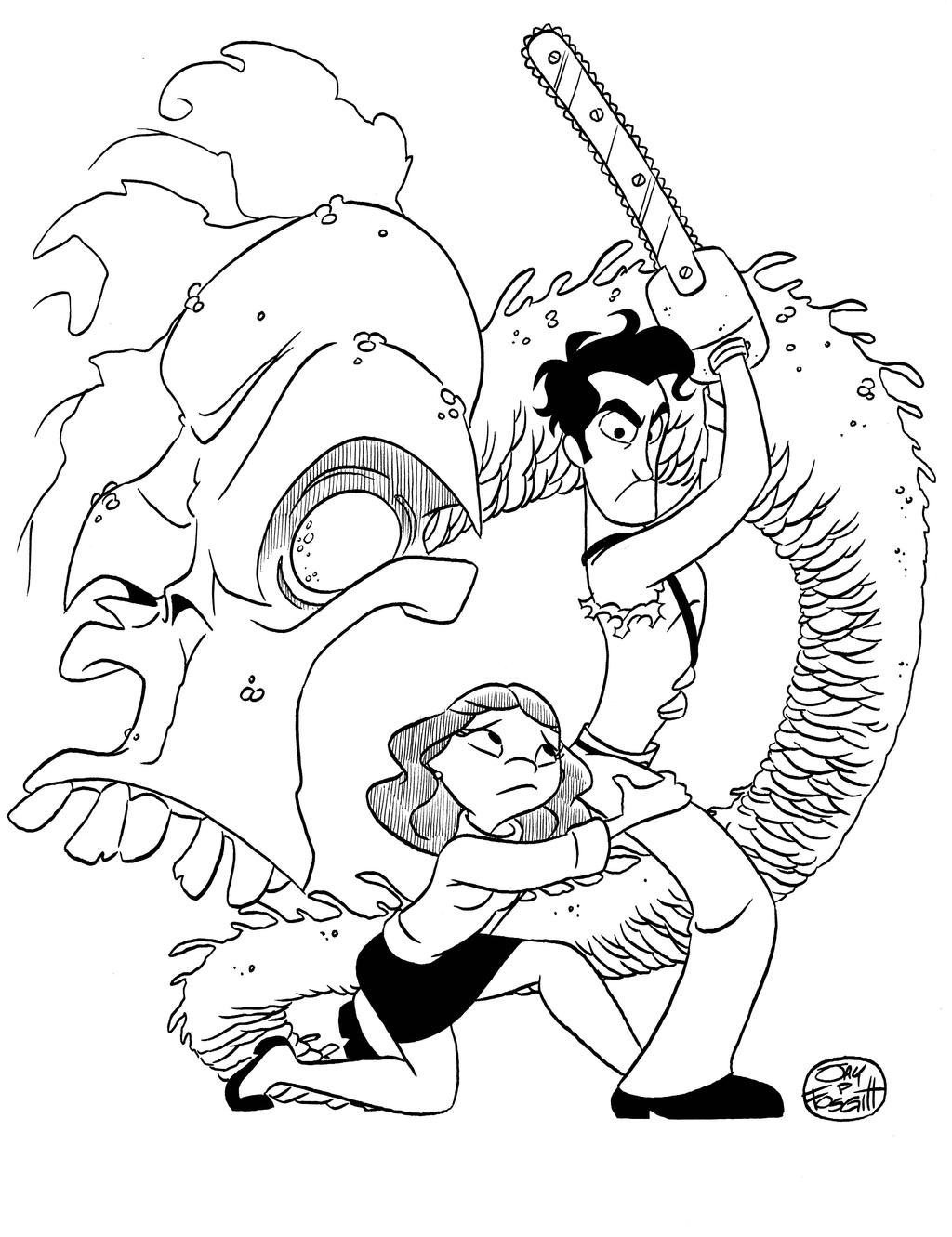 EVIL DEAD COMMISSION by JayFosgitt