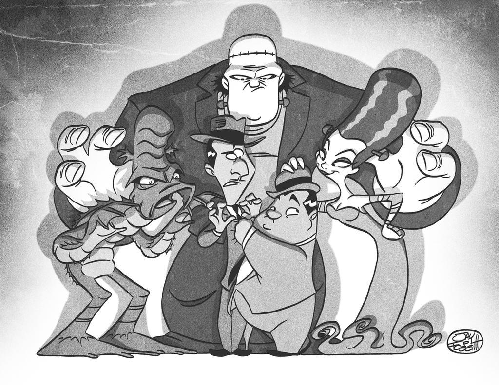 Abbot and Costello meet some other monsters by JayFosgitt