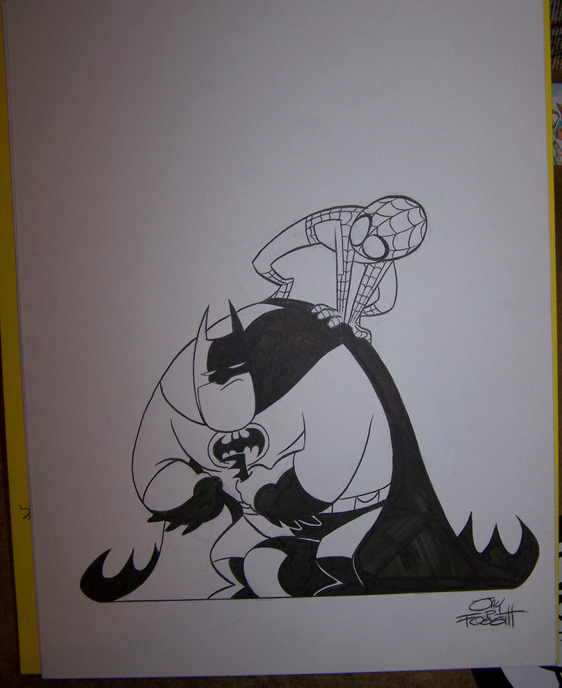 The Dark Knight meets The Arachnerd by JayFosgitt