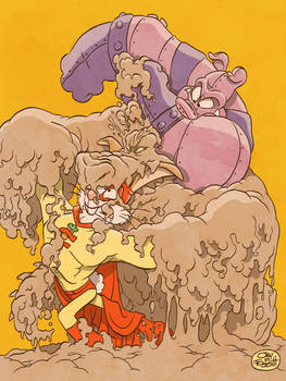 CAPTAIN CARROT AND PIG IRON VS MUDD