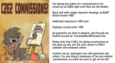 C2E2 2016 PRE ORDERS FOR COMMISSIONS by JayFosgitt