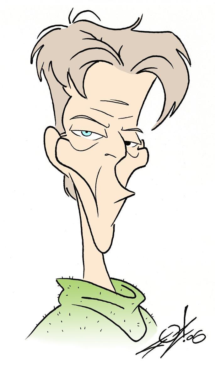 David Bowie Caricature by JayFosgitt