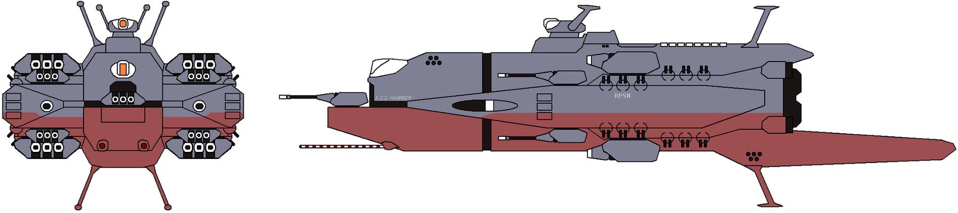 Hammer Class Heavy Cruiser by IgorKutuzov