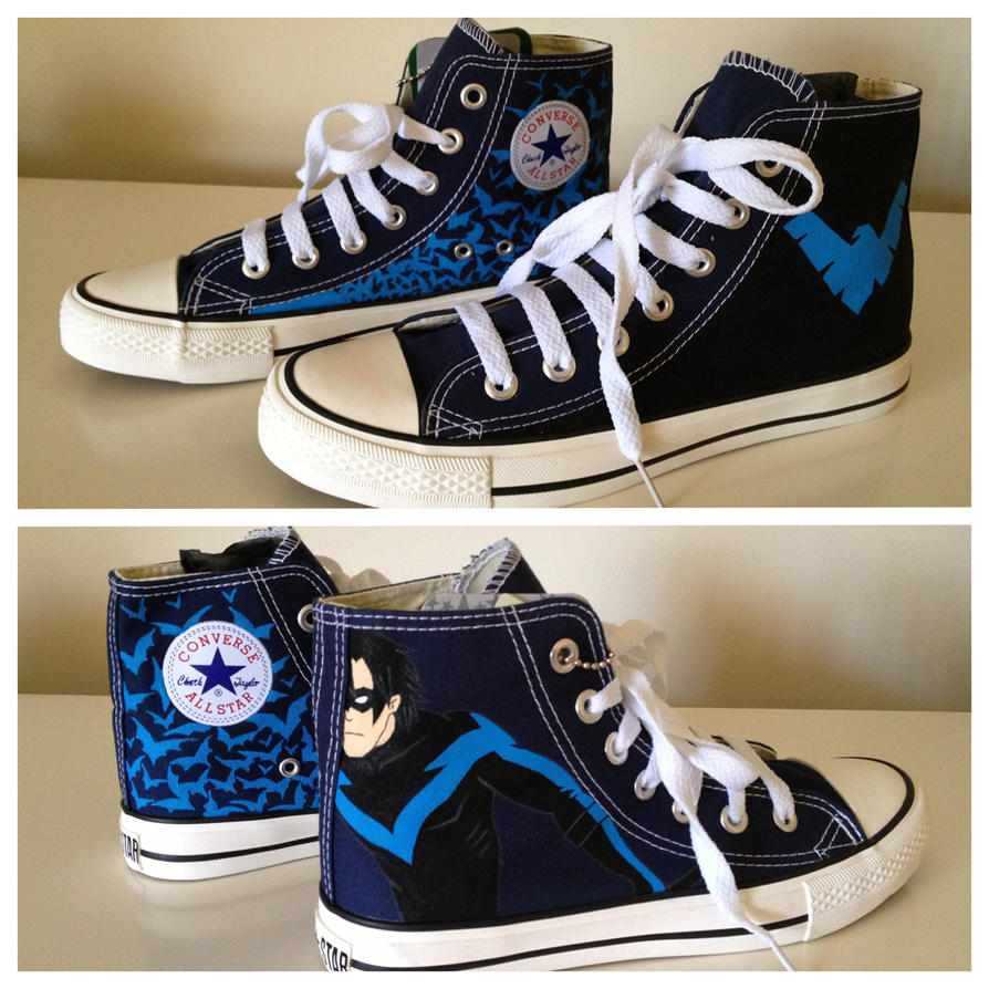 Nightwing Sneakers by breathless-ness