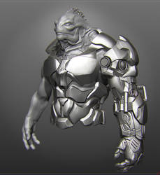 Alien 32 armor sketch by perana