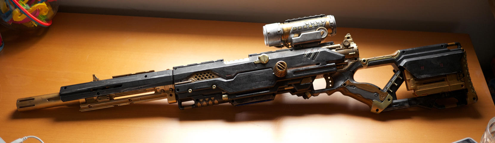 how to build steampunk sniper rifle