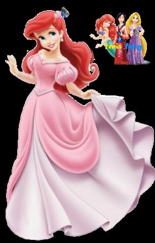 Ariel Pink Dress Disney Store Version By Fenixfairy On Deviantart