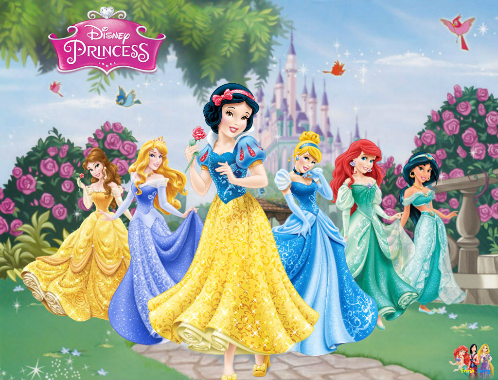 disney princess redesigne wallpaper 1 by fenixfairy on