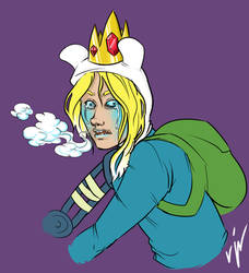 Finn the Ice King by 24-crayons