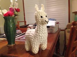 White llama crochet
