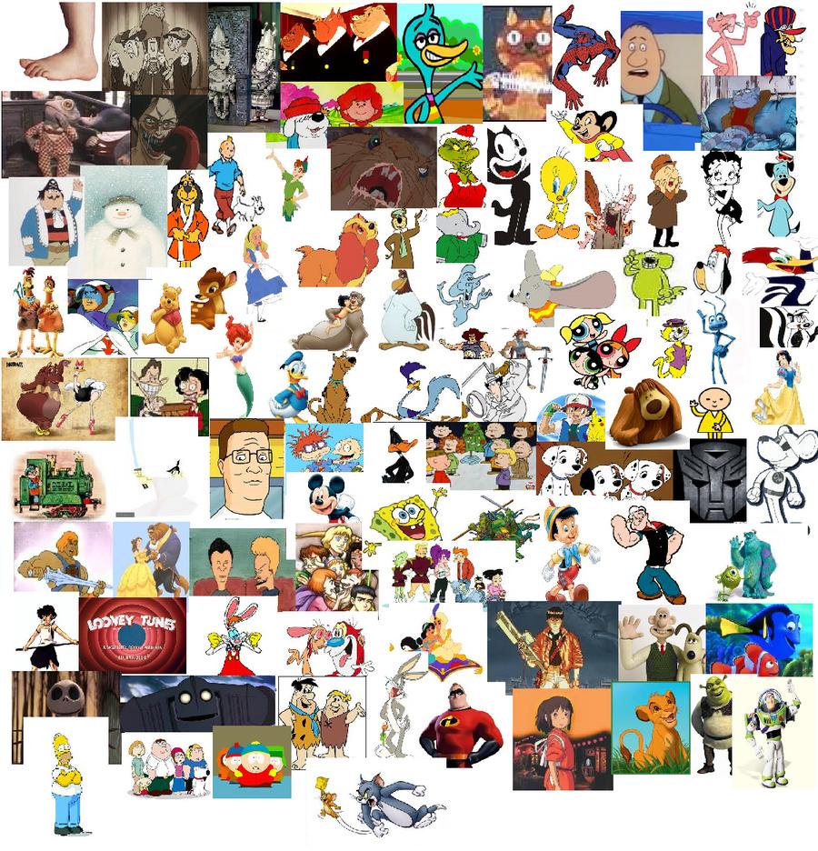The top 100 cartoons by mcdonaldsduck