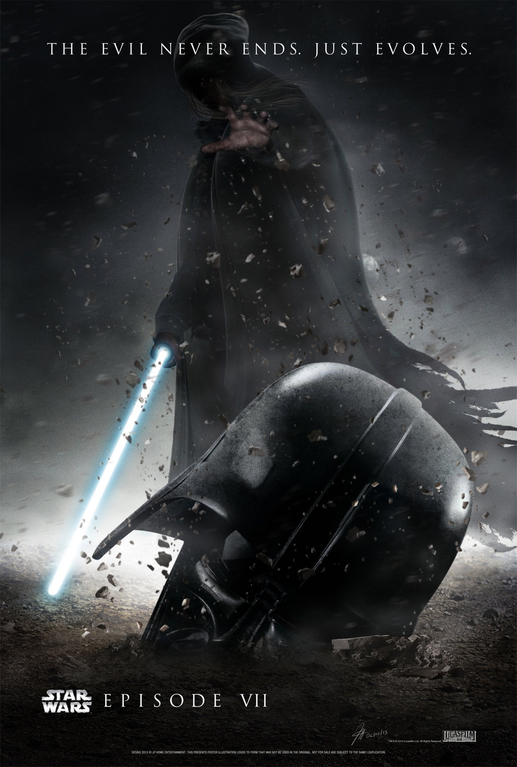 Novo Star Wars chega aos cinemas em... Star_wars___episode_vii____poster_provisional_by_jphomeentertainment-d5tluuh