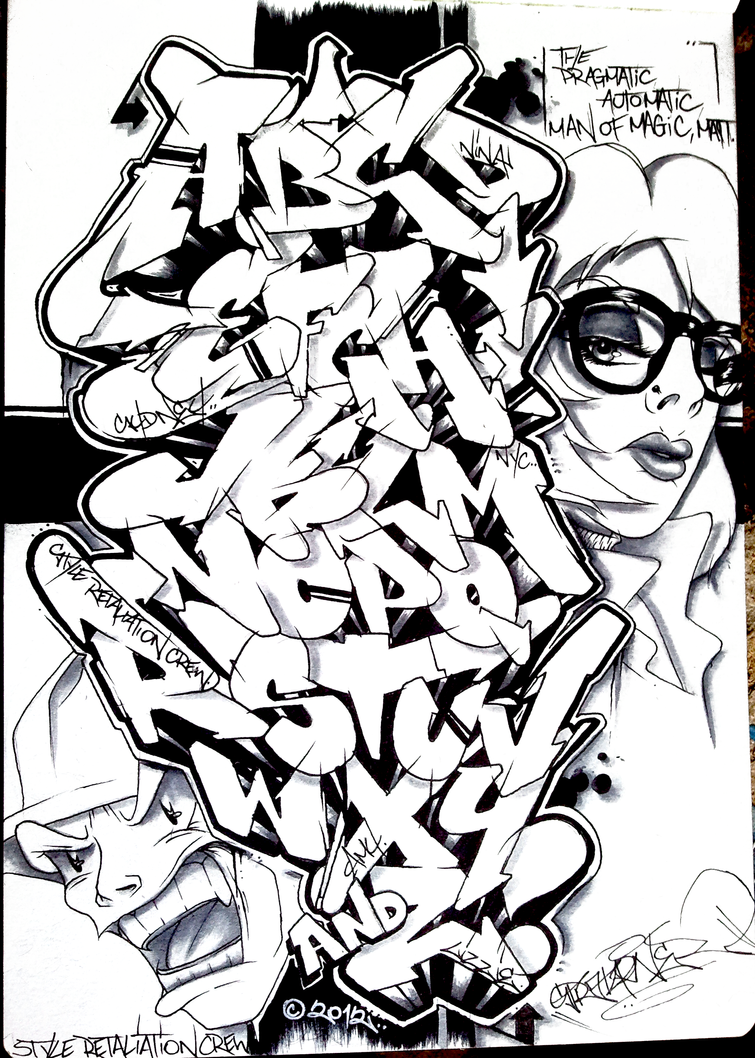 Block Style Graffiti Alphabet Wall – Quotes of the Day