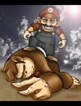 Wicked Mario Slays Donkey Kong