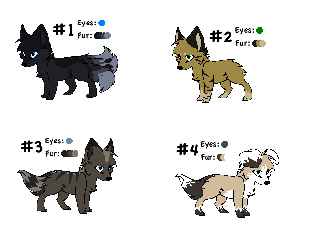 Adoptables 5 by LunaThePuppeh