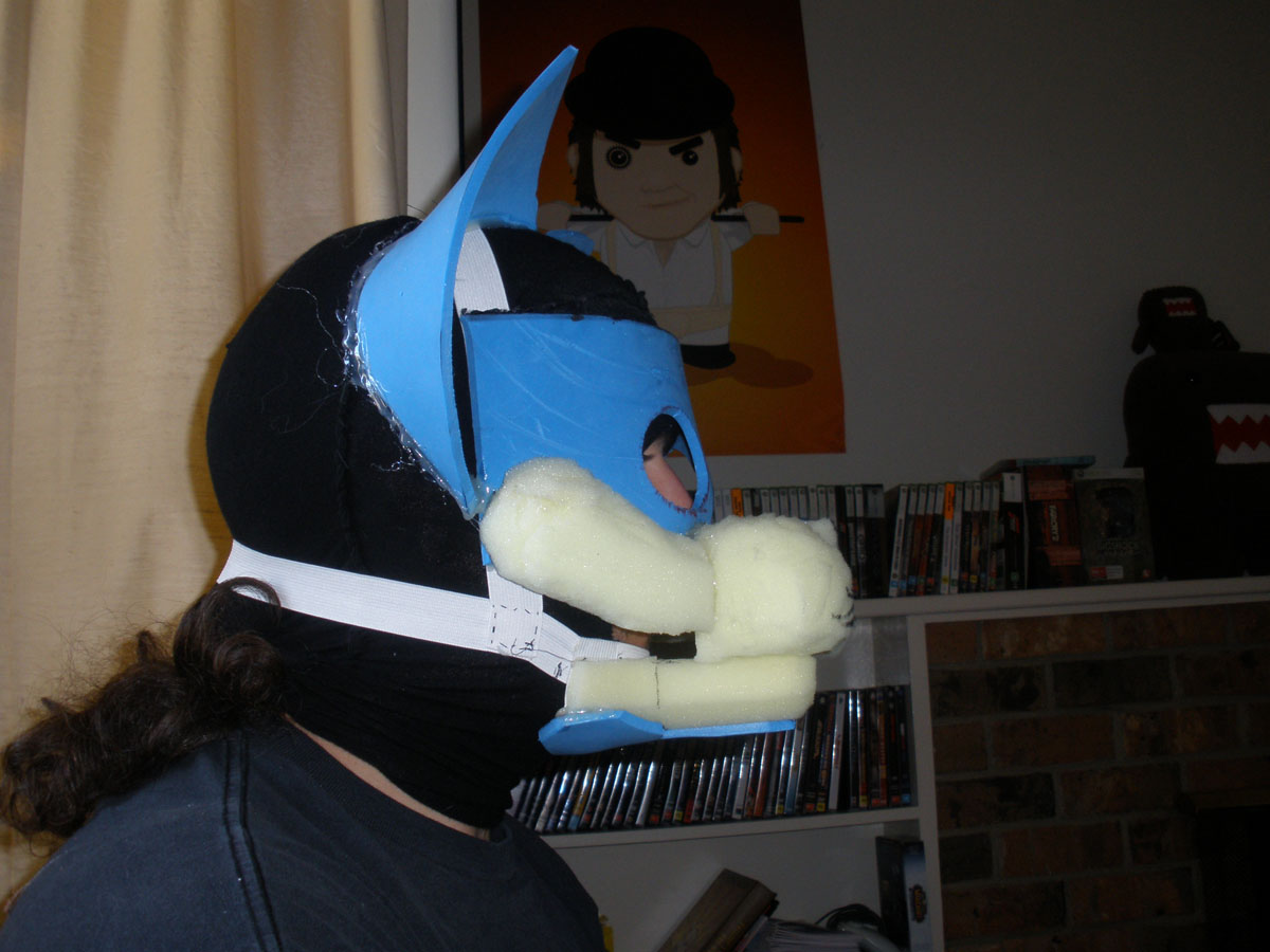fursuit head yet more progress fixed the ears added