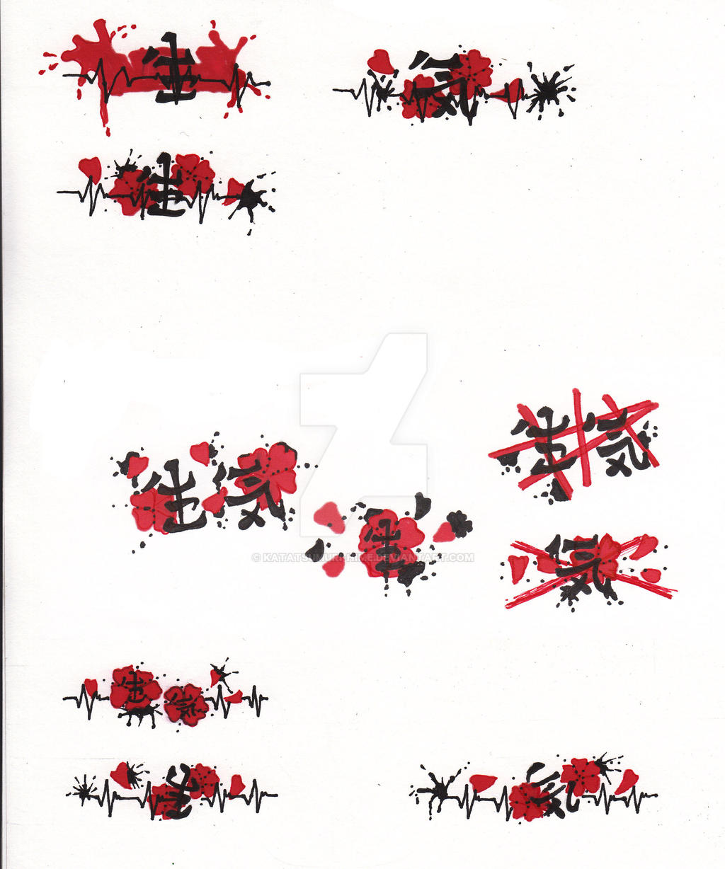 ideas for wedding ring tattoo design by katatsumuri hime