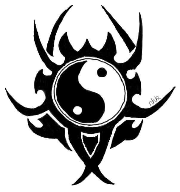 yin yang tribal tattoo designxninachanx on deviantart