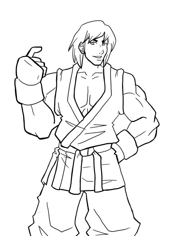 Ryu Ken Free Coloring Pages Ken Coloring Pages