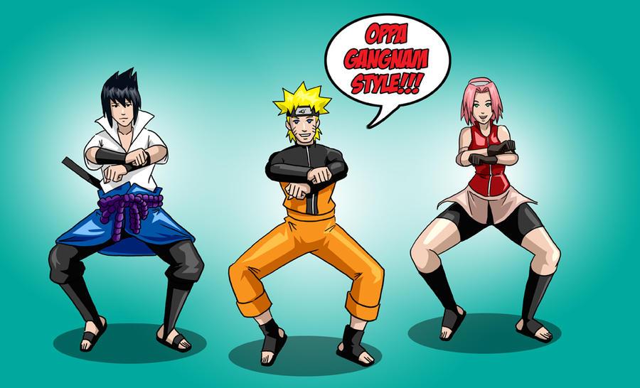 Naruto: Gangnam Style by hocuspukeus