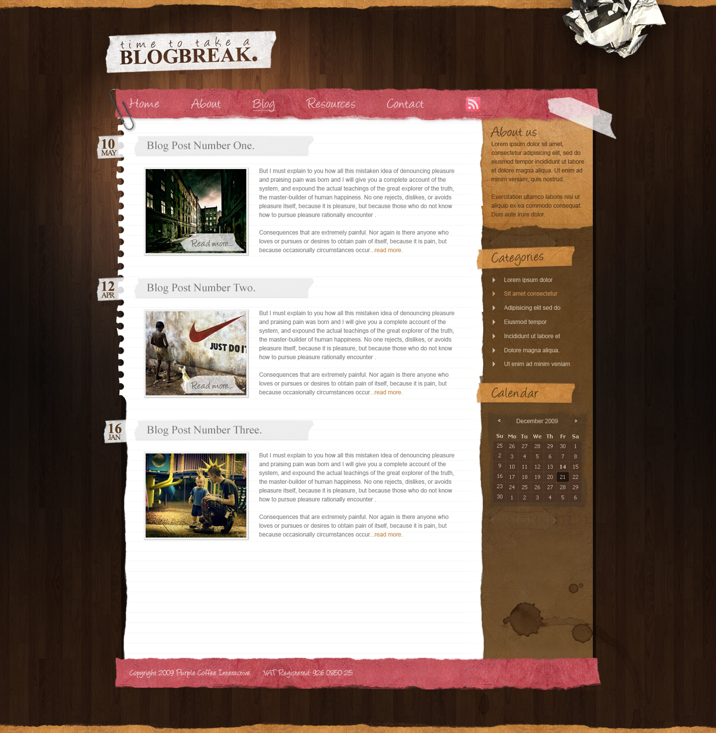 Textured Blog Layout by voodoosimon