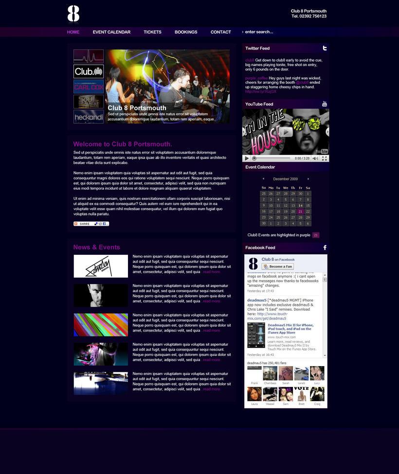 Club 8 Night Club Design by voodoosimon