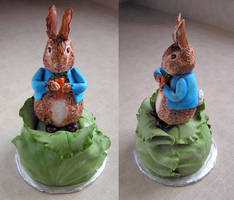 Peter Rabbit Cake by DancesWithWacom