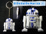 Star Wars R2 D2 Keychain by MrsSewing