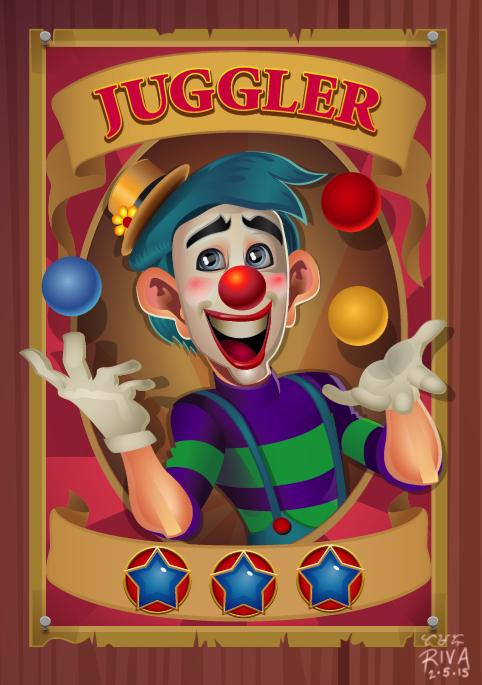 Juggler Circus Poster by riva13