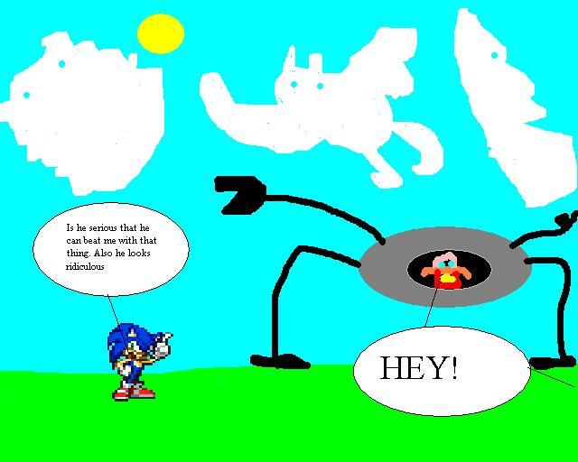 sonic vs poorly drawn eggman by dragonmaster77 on deviantart