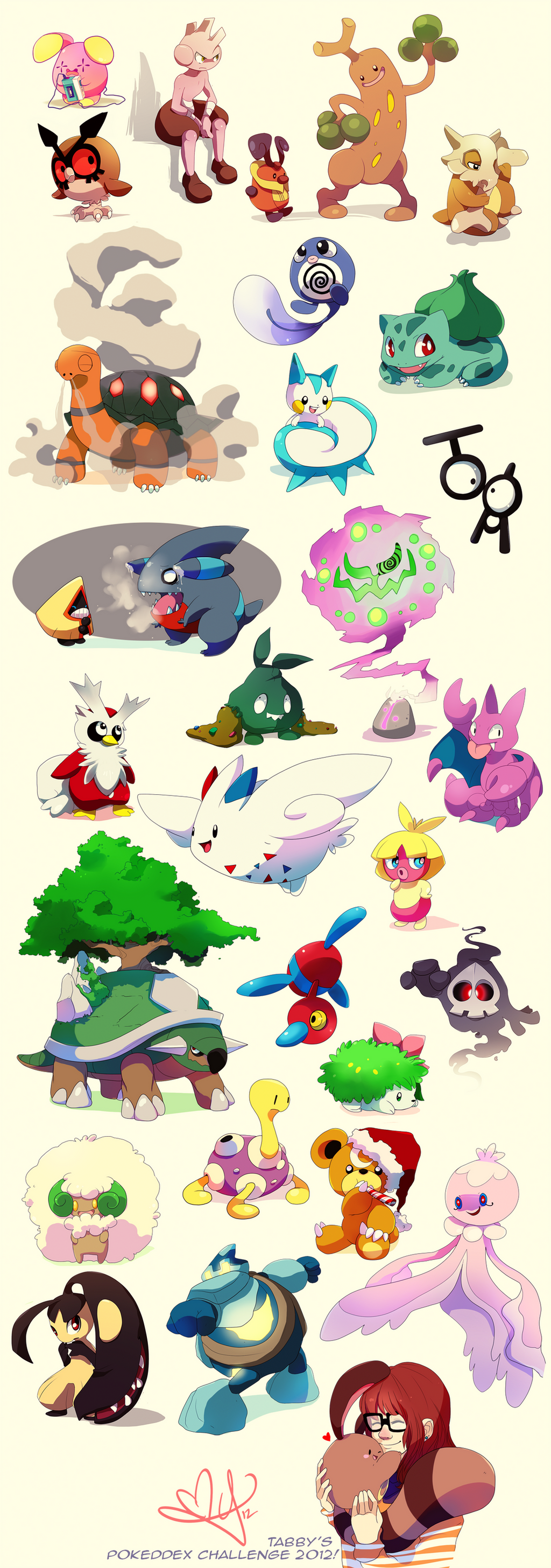 Pokeddex Challenge 2012 by tabby-like-a-cat