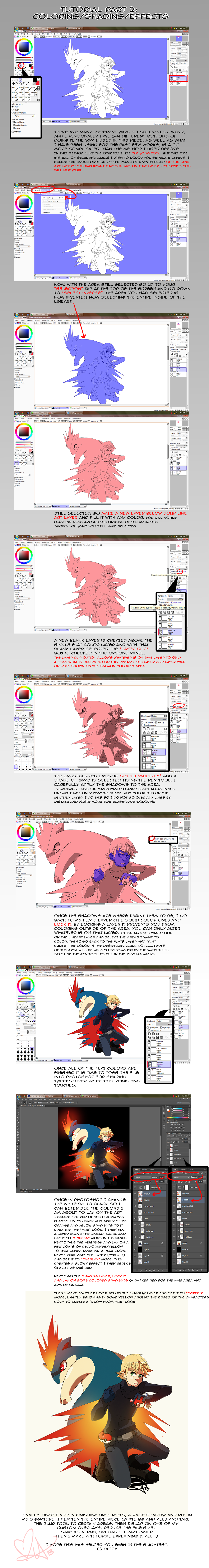 Tutorial Part 2: Coloring and Effects by tabby-like-a-cat