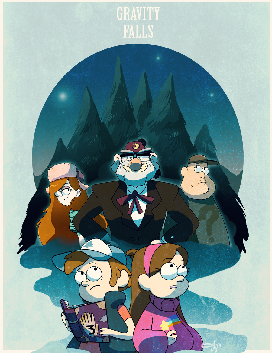 Gravity Falls by tabby-like-a-cat