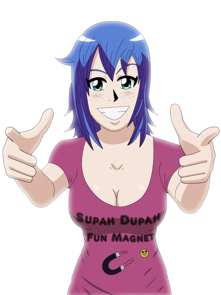 Supah Dupah Fun Magnet by Sol-Tamida