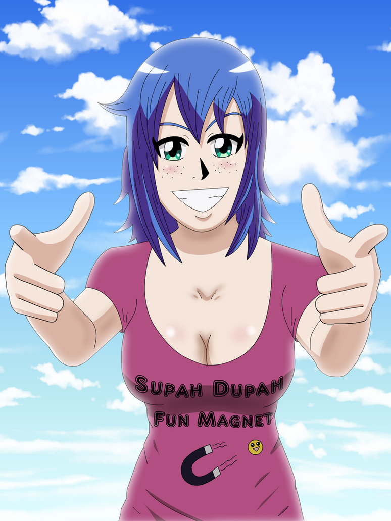 Supah Dupah Fun Magnet (With Background) by Sol-Tamida