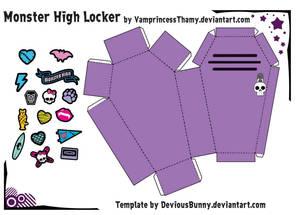 Monster High Locker Papercraft