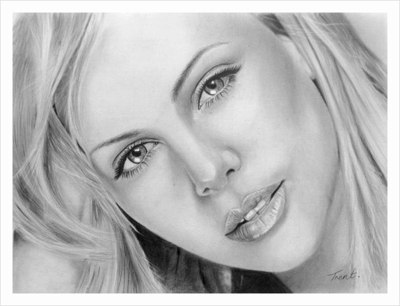 Charlize Theron Drawing By Trent by happytrenty