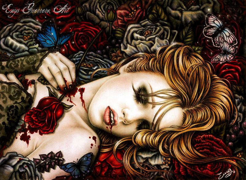 Ecstasy into the savage garden by EnysGuerrero