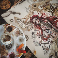 Famine Coloring Process by EnysGuerrero