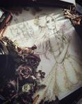Line Art Princess Belle Fanart