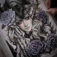 Valentin Coloring Process by EnysGuerrero
