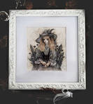 Black Crystal Witch Framed version