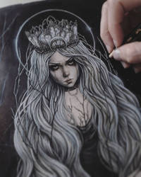 The Queen Of The Dark Forest Paiting Process