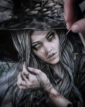 Wicked Witch Painting Process
